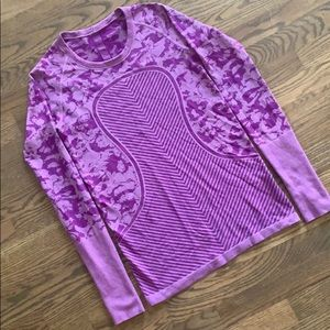 EUC Lululemon Swiftly Tech long sleeve plum camo